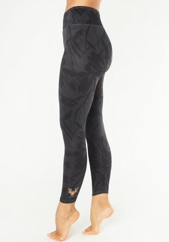 KISMET - Yoga Leggings Ganga 7/8 Anthracite Flower